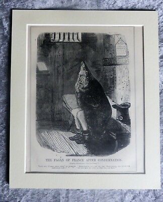 Vintage Punch Cartoon: Louis Philippe I Of France As Fagin, 1850.
