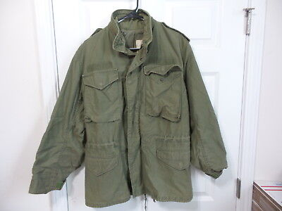Alpha Industries Army M65 Cold Weather Field Jacket Od Green 1980 Small Regular