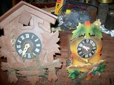 5 Old Cuckoo Clocks For Parts Project