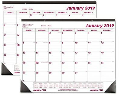 Year 2019 Desk Pad Wall Calendar Chipboard Large Monthly Office Daily Yearly NEW