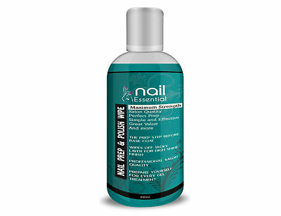 Prep & and Wipe Nail Gel Polish Cleanser Cleaner UV LED Manicure 250ml