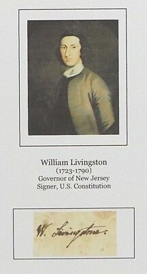 William Livingston - 1776 Gov. of New Jersey and Founding Father