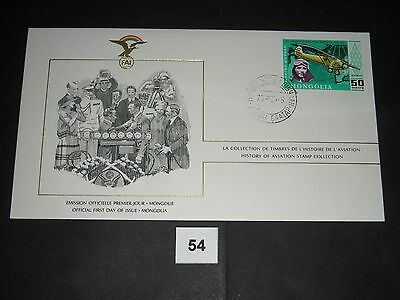 FDC,First,Day,of,Issue,MONGOLIA,Mongolei,Flugzeug,Aircraft(54)