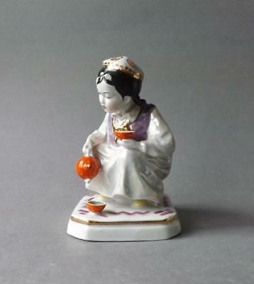 Antique Russian Soviet Figurine of Small Housekeeper by Dulevo factory