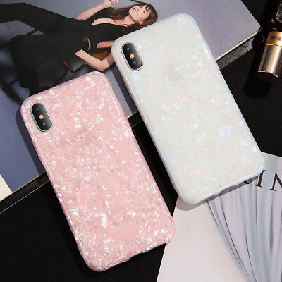Cute Shell Glitter Case Silicone Shockproof Cover For iPhone 8 Plus X XR XS Max