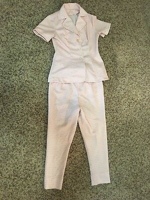 Pink Polyester Pantsuit 1960/70s