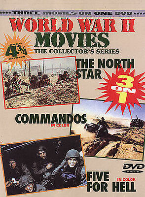 World War II Movies - The North Star/Commandos/Five for Hell (DVD, 2004)