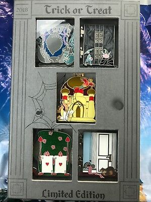 Disney Haunting Halloween 2018 Tiered Collection Five Pin Box Set LE 1000 Queen