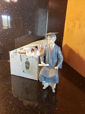 LLADRO BOY GRADUATE #5198 - YOUNG MAN IN CAP & GOWN w/ DIPLOMA
