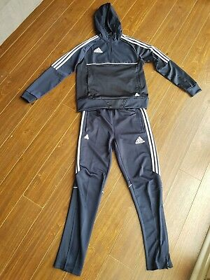 Boys Adidas Climacool Tracksuit Navy Blue. Age 13-14.