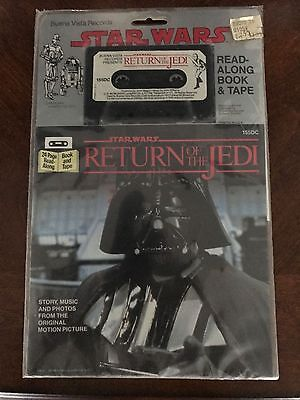 Star Wars Return of The Jedi Read-Along Book & Tape 1983 New! Sealed!