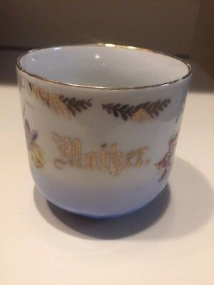 Antique MOTHER Large Mug Cup Germany Flowers Intricate Details
