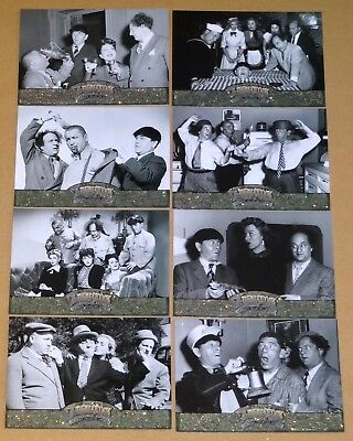 The Three Stooges Update 16-Glitter Card Mint Factory Set by Breygent (2005)