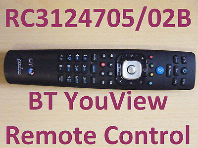 BT YouView Remote Control RC3124705/02B Fast Postage UK Seller