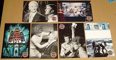 Dr Who - 1960's Dalek Movies - 6 Card Preview Set + Promo Card by Unstoppable