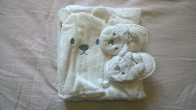 Baby Hooded Bath Towel Set with Wash/Drying Mitt - 4 piece