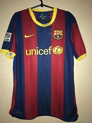514f45eeb10 BARCELONA FC 2010 2011 HOME SPAIN NIKE FOOTBALL SHIRT JERSEY CAMISETA era  MESSI