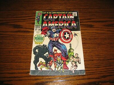 Marvel - CAPTAIN AMERICA #100 - Premiere Issue!! Black Panther VG  1968