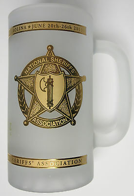 National Sheriff's Association NSA 2013 Annual Conference Frosted Glass Stein