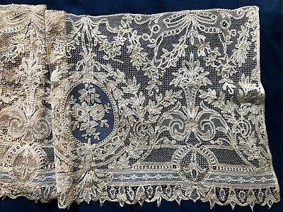 RARE Luxeuil mixed tape lace deep flounce COLLECTOR