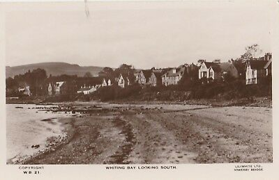REAL PHOTO POSTCARD WHITING BAY LOOKING SOUTH  c1930