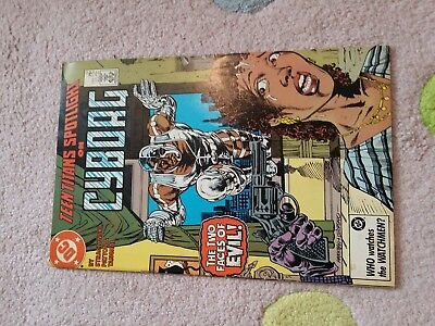 Dc Comic Book Teen Titans Spotlight On Cyborg,  The Two Faces Of Evil Aug 1987