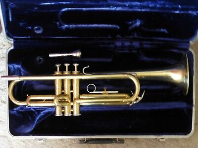 SilverTone Trumpet Made in USA Raw Polished Brass Beauty, SOLID, Beginners Horn