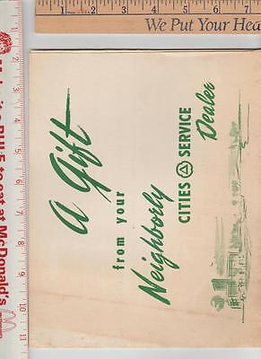 1 Cities service dealer gift packet 3 autos no date but 50 s car in picture