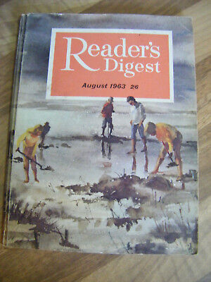 Vintage Reader's Digest Magazine ~ August 1963 ~ Great Read and Adverts!