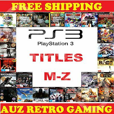 PS3 Playstation 3 Games Selection MINT DISC M-Z