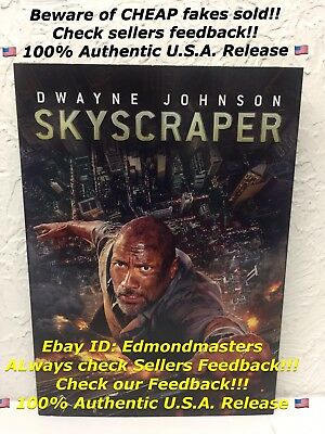 Skyscraper 2018 DVD, Brand New!! 100% Authentic, Beware of CHEAP FAKES SOLD!!