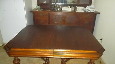 Jacobean style dining table $100 Circa 1930. Appraised. - $100