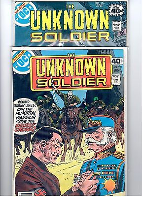 UNKNOWN SOLDIER  #226 & #228  (1979)  HITLER COVER!   VF/NM  9.0  Kubert Covers!