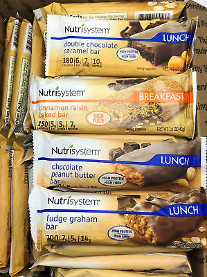 Nutrisystem On The Go Bars ~ Assorted ~ Lunch Nutrition Snack 56 Ct.