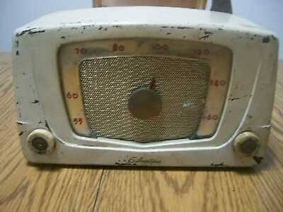 sears silvertone tube radio chassis 132.881 for parts or repair