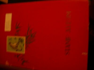 large WORLD Stamp Album mixed countries, approx 600 stamps, lots of older- REDa