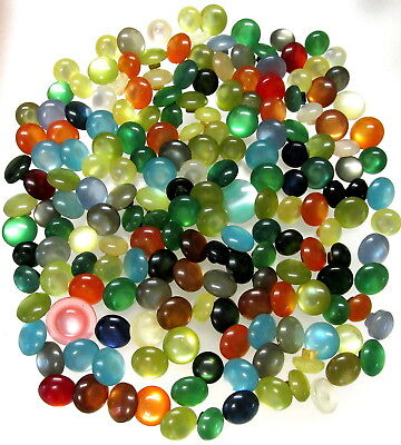 Luminous Lot Of 184 Vtg Old Stock Plastic Moonglow Buttons ~Many Colors C138