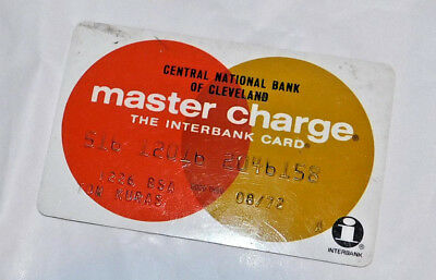 Vintage 1972 Central National Bank of Cleveland Master Charge credit card