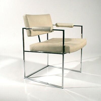Mid Century Chrome Milo Baughman 1188 Armchair For Thayer Coggin