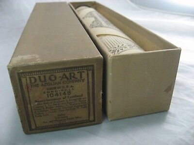 Piano Roll 104148 Duo Art Reminiscences Of Scotland Vintage