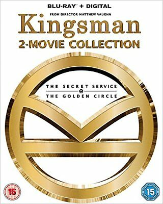 Kingsman - 2-Movie Collection  with Samuel L. Jackson New (Blu-ray  2018)