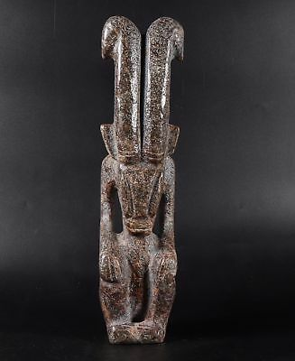 1350g Chinese Hongshan culture style Jade statue height 27.8cm