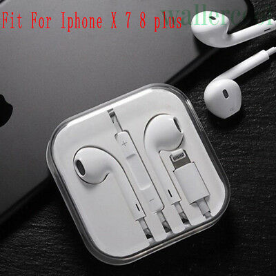 For IPhone X 7 8 plus NEW Wired Bluetooth Earbuds In-ear Headphones Headsets US
