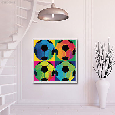 A1B4 Creative Oil Painting Canvas Painting 4 Footballs Pattern Canvas Unframed