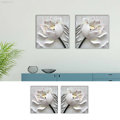 778D Fashion Oil Painting Canvas Painting Relief Lotus 2 Panels Wall Art