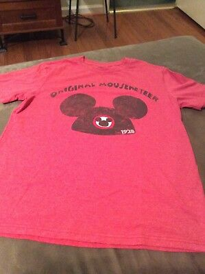 Disney Store Mickey Mouse Ears Original Mouseketeer Shirt Small