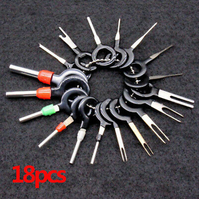 18Pcs Connector Pin Extraction Terminal Car Wire Harness Plug Removal Tool Kit