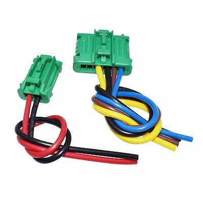 2Pcs Heater Blower Fan Resistor Plug Wiring Harness For Citroen Peugeot Renault