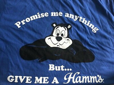 HAMM'S BEAR T SHIRT BRAND NEW NEVER WORN OR USED SIZE Large