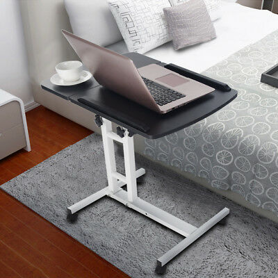 Adjule Angle Height Rolling Laptop Notebook Desk Stand Over Sofa Bed Table